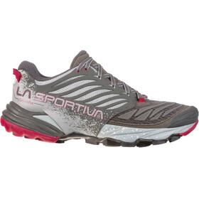 La Sportiva Akasha - Zapatillas running Mujer - gris/rojo